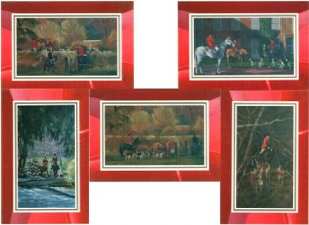 Hunting Scene Set of 5 Blank Cards Illustrated by Alison Wilson